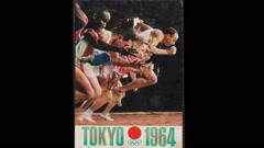 東京1964オリンピック聖火リレーの藤枝市走行時の様子